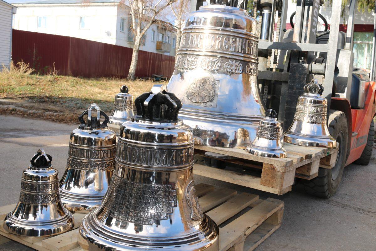 Набор колоколов для Храма в честь Архангела Михаила в районном центре Исаклы.